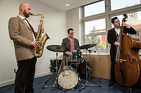 A Jazz band entertained