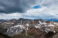 View south towards Gilpin peak from Lavender couloir on Mt. Sneffels (14150 ft), San Juan mountains, Colorado, USA