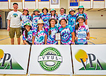 30 May 2015: The girls team from BFA Fairfax High School are awarded the runner up award after the conclusion of the Vermont Youth Ultimate League 2015 High School State Championships at Milton Senior High School in Milton, Vermont. Mandatory Credit: Ed Wolfstein Photo *** RAW (NEF) Image File Available ***
