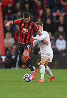 Swansea City's Tom Carroll (R) battles with Bournemouth's Andrew Surman (L)<br /> <br /> Bournemouth 2 - 0 Swansea<br /> <br /> Photographer David Horton/CameraSport<br /> <br /> The Premier League - Bournemouth v Swansea City - Saturday 18th March 2017 - Vitality Stadium - Bournemouth<br /> <br /> World Copyright &copy; 2017 CameraSport. All rights reserved. 43 Linden Ave. Countesthorpe. Leicester. England. LE8 5PG - Tel: +44 (0) 116 277 4147 - admin@camerasport.com - www.camerasport.com
