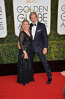 Jeff Bridges &amp; wife at the 74th Golden Globe Awards  at The Beverly Hilton Hotel, Los Angeles USA 8th January  2017<br /> Picture: Paul Smith/Featureflash/SilverHub 0208 004 5359 sales@silverhubmedia.com