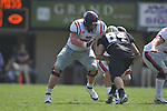 Ole Miss' Matt Hall (75) in Nashville, Tenn. on Saturday, September 17, 2011. Vanderbilt won 30-7..