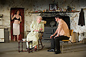 "London, UK. 22/07/2011. ""The Beauty Queen of Leenane"" by Martin McDonaugh returns to the Young Vic. Derbhle Crotty as Maureen Folan , Rosaleen Linehan as Mag Folan and Frank Laverty as Pato Dooley. Photo credit: Jane Hobson"