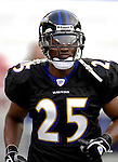 31 December 2006: Baltimore Ravens cornerback Evan Oglesby warms up prior to a game against the Buffalo Bills at M&amp;T Bank Stadium in Baltimore, Maryland. The Ravens defeated the Bills 19-7. Mandatory Photo Credit: Ed Wolfstein Photo.<br />