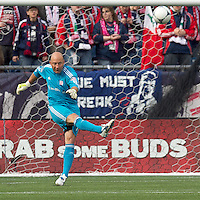 New England Revolution goalkeeper Matt Reis (1). In a Major League Soccer (MLS) match, the New England Revolution defeated Portland Timbers, 1-0, at Gillette Stadium on March 24, 2012