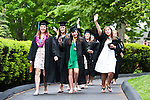 05/22/2011 - Medford/Somerville, Mass.  Graduating seniors head the staging areas prior to the start of the annual Commencement ceremony on Sunday, May 22, 2011.  (Alonso Nichols/Tufts University).