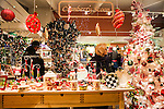 Shoppers browse ornaments and Christmas decorations at Cranberry Scoop in downtown Los Altos during First Friday Dec. 7.