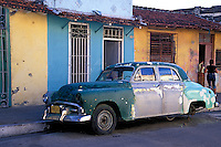 Classic American Antique 1940's-50's  Auto, Cuba, Republic of Cuba,