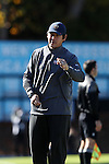 12 November 2016: Liberty assistant coach Josh Rife. The University of North Carolina Tar Heels played the Liberty University Flames at Fetzer Field in Chapel Hill, North Carolina in a 2016 NCAA Division I Women's Soccer Tournament First Round match. UNC won the game 3-0