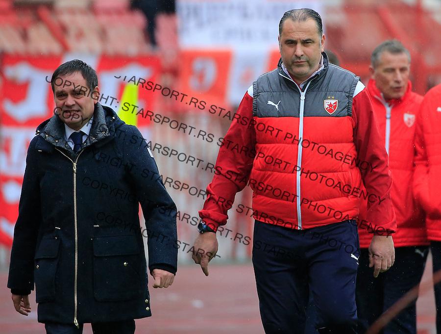 Fudbal Jelen Super League season 2015-2016<br /> Crvena Zvezda v Vozdovac<br /> head coach Miodrag Bozovic and Blazo Raosavljevic<br /> Beograd, 28.11.2015.<br /> foto: Srdjan Stevanovic/Starsportphoto&copy;