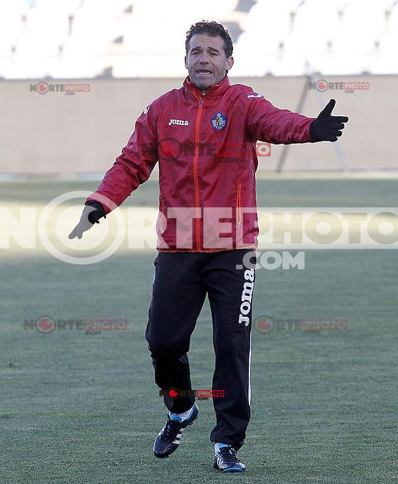 Getafe's coach Luis Garcia during training session.December 05,2012.(ALTERPHOTOS/Acero) /NortePhoto