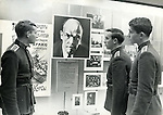 Studying Lenin. A scene from the Moscow military trade school in Leningrad during the Soviet Union. ..Russian military school at the Leningrad State University in 1969 which was celebrating 100 years of the birth of Lenin.