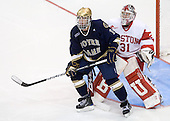 Kyle Palmieri (Notre Dame - 10), Kieran Millan (BU - 31) - The University of Notre Dame Fighting Irish defeated the Boston University Terriers 3-0 on Tuesday, October 20, 2009, at Agganis Arena in Boston, Massachusetts.