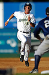 12 July 2007: Vermont Lake Monsters outfielder Aaron Seuss slides safely into third against the Mahoning Valley Scrappers at Historic Centennial Field in Burlington, Vermont. The Scrappers defeated the Lake Monsters 11-2 in the first game of their NY Penn-League double-header...Mandatory Photo Credit: Ed Wolfstein Photo