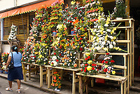 Flower stand in the market, city of Veracruz, Mexico