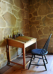 Grist mill desk and chair, George Washington Grist Mill Alexandria Virginia,