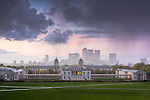 Queens House & Royal Naval College, Greenwich and Canary Wharf viewed in october 2010, photographed by Christopher Holt