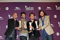 LAS VEGAS - APR 1:  Eli Young Band in the press room  at the 2012 Academy of Country Music Awards at MGM Grand Garden Arena on April 1, 2010 in Las Vegas, NV.