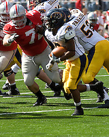 13 October 2007: Ohio State defensive tackle Dexter Larimore (72).. The Ohio State Buckeyes defeated the Kent State Golden Flashes 48-3 on  October 13, 2007 at Ohio Stadium, Columbus, Ohio.