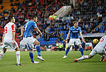 St Johnstone v Ross County...11.08.15...SPFL..McDiarmid Park, Perth.<br /> Graham Cummins scores for saints<br /> Picture by Graeme Hart.<br /> Copyright Perthshire Picture Agency<br /> Tel: 01738 623350  Mobile: 07990 594431
