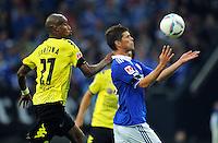 FUSSBALL   1. BUNDESLIGA   SAISON 2011/2012   SUPERCUP FC Schalke 04 - Borussia Dortmund            23.07.2011 Felipe SANTANA (li, Dortmund) gegen Klaas-Jan HUNTELAAR (re, Schalke)