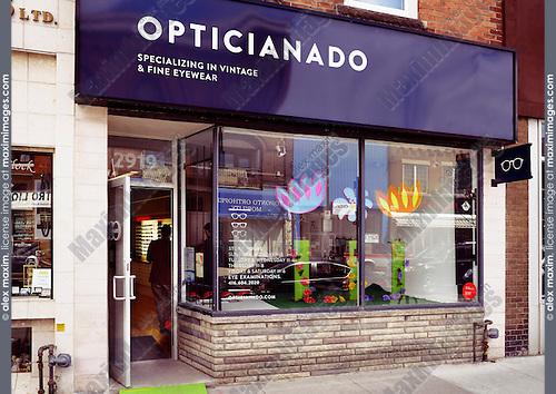 Opticianado vintage eyewear store at the Junction in Toronto, Canada