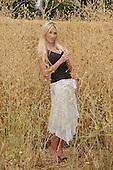 Beautiful lady in a field