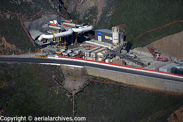 aerial photograph Devil's slide tunnel San Mateo County, California