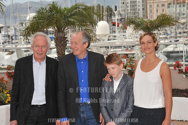 "Directors Jean-Pierre Dardenne & Luc Dardenne with Cecile De France & Thomas Doret at the photocall for their movie ""The Kid With A Bike"" at the 64th Festival de Cannes..May 15, 2011  Cannes, France.Picture: Paul Smith / Featureflash"