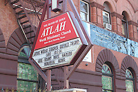 FEB 07 ATLAH Missionary Church Sign Supporting Trump in Harlem, NY