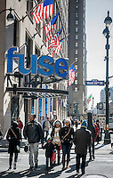 The offices and studios of Fuse TV in the Penn Station vicinity of New York on Monday, March 17, 2014. Fuse TV is a music channel whose demographics are young adults. MSG, the owner of the channel, is seeking a buyer for it and both Jennifer Lopez' NuvoTV and Sean Combs have both made offers. (© Richard B. Levine)