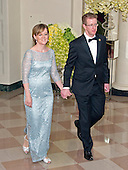 United States Representative Derek Kilmer (Democrat of Washington)<br /> and Jennifer Kilmer arrive for the State Dinner in honor of Prime Minister Trudeau and Mrs. Sophie Gr&eacute;goire Trudeau of Canada at the White House in Washington, DC on Thursday, March 10, 2016.<br /> Credit: Ron Sachs / Pool via CNP
