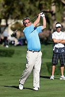 24 January 2009: Celebrity actor Kurt Russell  drives the ball off the fairway at Palmer Private at PGA West in La Quinta, California during the fourth round of play at the 50th Bob Hope Chrysler Classic, PGA golf tournament.