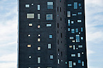 Building seen from the Highline in New York City; one of the many modern buildings that line the landscape along the Highline in New York City