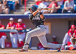 7 March 2016: Miami Marlins infielder Martin Prado in action during a Spring Training pre-season game against the Washington Nationals at Space Coast Stadium in Viera, Florida. The Nationals defeated the Marlins 7-4 in Grapefruit League play. Mandatory Credit: Ed Wolfstein Photo *** RAW (NEF) Image File Available ***