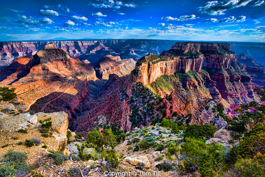 Vishnu Temple and Wotans Throne, Grand Canyon National Park, Arizona, Kaibab Plateau  North Rim, Walhala Plateau,    South Rim Beyond, Colorado River