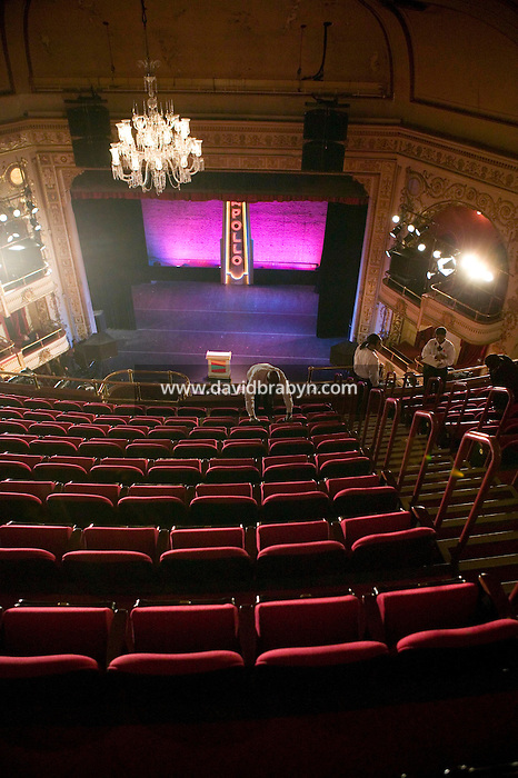 13 February 2006 - New York City, NY - Employees check the new seats at the Apollo theater in Harlem, New York City, USA, 13 February 2006. The famous theater, home of the Amateur Nights at The Apollo, is reopening with a renovated facade and new seats.