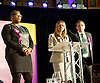 Pauline McQueen is the UKIP candidate for Weavers ward Bethnal Green in Tower Hamlets. Pictured during a UKIP rally in Westminster where party leader Nigel Farage addressed party members on race issues. on 7th May 2014 <br /> <br /> Pauline (Paula) McQueen is married to Nicholas McQueen who is standing as the UKIP Mayor of Tower Hamlets candidate.