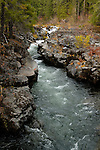 The Rogue River flows through a gorge, Rogue River National Forest, Oregon