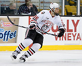 Kyle Kraemer (NU - 16) - The Northeastern University Huskies defeated the Harvard University Crimson 4-1 (EN) on Monday, February 8, 2010, at the TD Garden in Boston, Massachusetts, in the 2010 Beanpot consolation game.