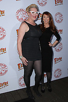 HOLLYWOOD, CA - OCTOBER 18: Calpernia Addams, Cassandra Peterson attends the launch party for Cassandra Peterson's new book 'Elvira, Mistress Of The Dark' at the Hollywood Roosevelt Hotel on October 18, 2016 in Hollywood, California. (Credit: Parisa Afsahi/MediaPunch).