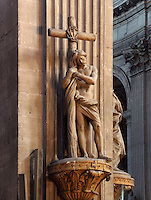 Christ, sculpture by Edme BOUCHARDON (1698-1762), perimetre of choir, Eglise Saint-Sulpice (St Sulpitius' Church), c.1646-1745, Paris, France. Chancel of the late Baroque church by Christophe Gamard, Louis Le Vau and Daniel Gittard; church completed 1714-45 by Gilles-Marie Oppenord. Picture by Manuel Cohen