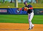 10 March 2009: Washington Nationals infielder Freddie Bynum pulls in a grounder for an out at first during a Spring Training game against the New York Mets at Space Coast Stadium in Viera, Florida. The Nationals and Mets tied 5-5 in the 10-inning Grapefruit League matchup. Mandatory Photo Credit: Ed Wolfstein Photo