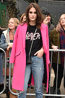 Charlotte Wiggins arrives for the Topshop Unique AW17 show as part of London Fashion Week AW17 at Tate Modern, London, UK. <br /> 19 February  2017<br /> Picture: Steve Vas/Featureflash/SilverHub 0208 004 5359 sales@silverhubmedia.com