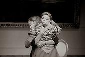 "Valentina Nrovka (Irene Worth) and Sophia Yepileva (Zoe Wanamaker) in  ""The Bay at Nice"" written and directed by David Hare, designed by John Gunter, National Theatre, London, 1986."