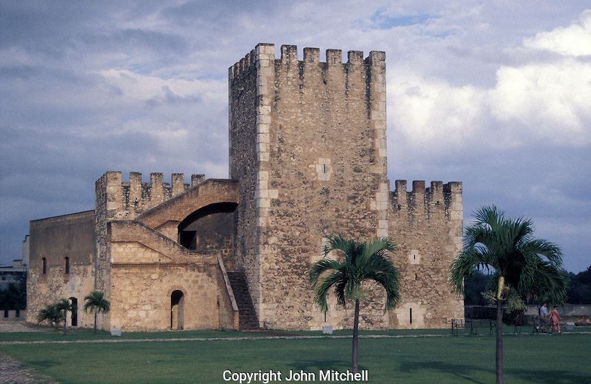 The Torre de Homenaje in the Fortaleza de Santo Domingo or Fortaleza Ozama, old Santo Domingo, Dominican Republic.