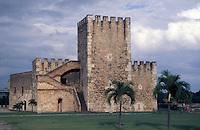 The Torre de Homenaje in the Fortaleza de Santo Domingo or Fortaleza Ozama, old Santo Domingo, Dominican Republic.