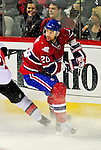 22 March 2010: Montreal Canadiens' defenseman Ryan O'Byrne in action against the Ottawa Senators at the Bell Centre in Montreal, Quebec, Canada. The Senators shut out the Canadiens 2-0 in their last meeting of the regular season. Mandatory Credit: Ed Wolfstein Photo