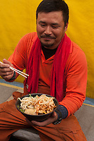 Local workers refuel with tempura udon at Hyogo.
