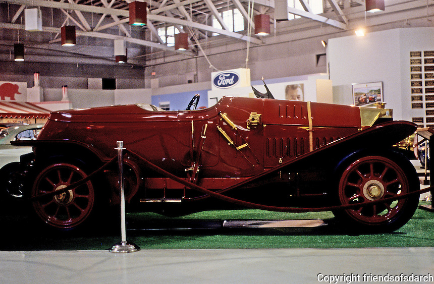 Classic Cars: 1914 Isotta-Fraschini, in profile.